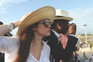 Divas & Dudes Hat Contest During the 67th Florida Derby at