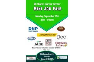 MINI JOB FAIR- NCWorks Career Center-Cabarrus | Charlotte