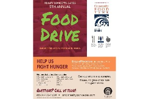 Join Realty Concepts For Their 5th Annual RC Cares Food Drive Donate Your Non Perishable Items Or Cash Donation To Any Of Our