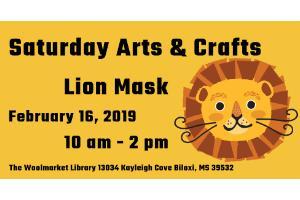Saturday Arts & Crafts: Lion Mask at Woolmarket Public
