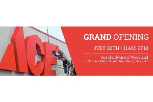 Ace Hardware of Woodland Grand Opening at Ace Hardware in
